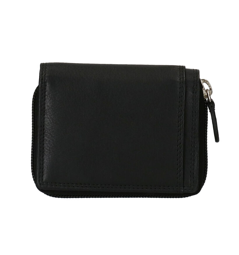 Euro-Leather Zwarte Portefeuille in leer (275637)