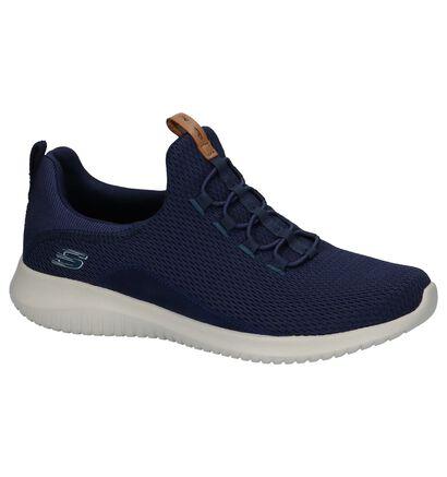 Skechers Ultra Flex Donker Blauwe Sneakers in stof (224266)