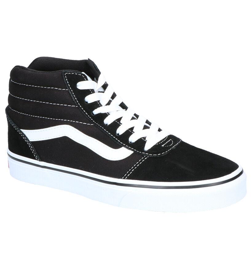 Vans Ward Hi Baskets Skate en Noir en daim (253466)