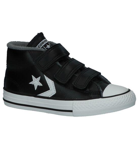 Zwarte Converse Star Player 3V Mid Hoge Sneakers met Velcro
