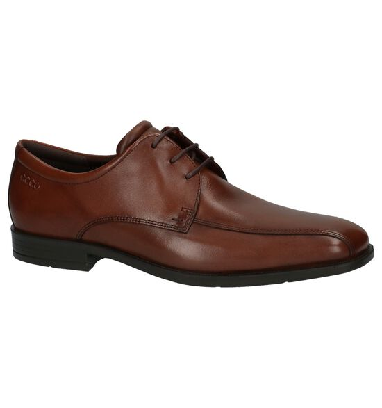ECCO Edinburgh Cognac Veterschoenen