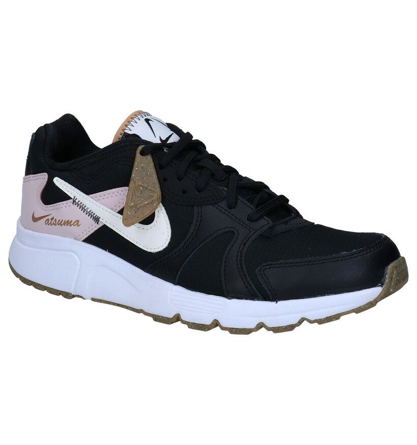 Nike Baskets basses en Noir en simili cuir (277469)