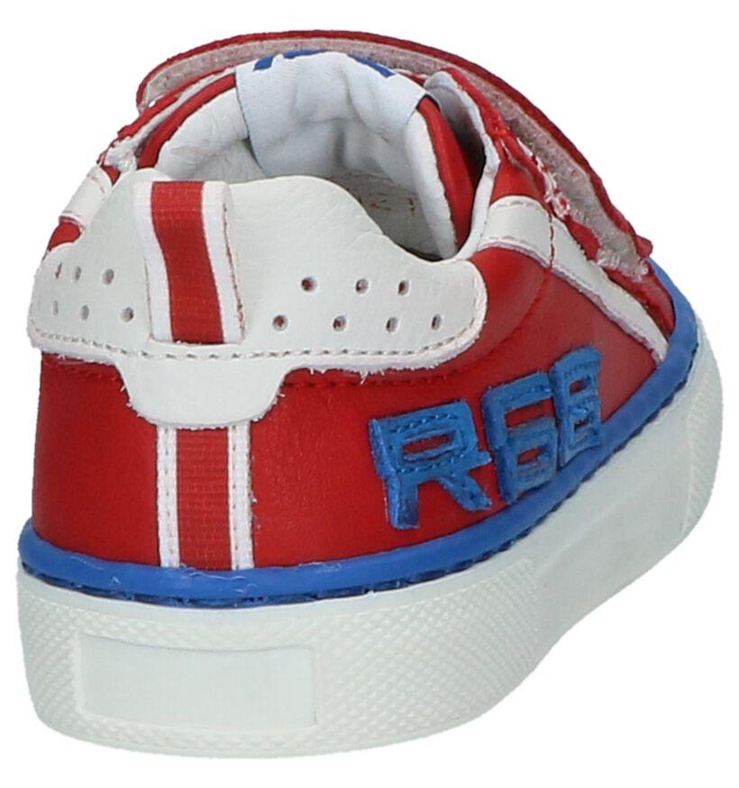 Romagnoli Donker Rode Velcroschoenen in leer (216044)