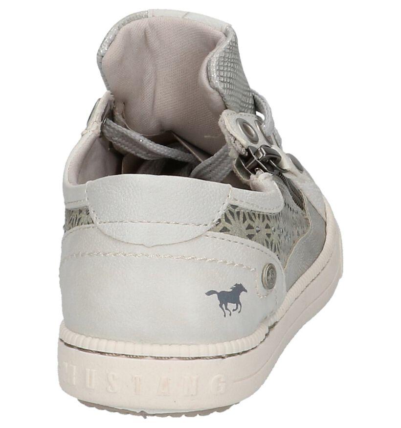 Mustang Zilveren Lage Sneakers in kunstleer (209516)