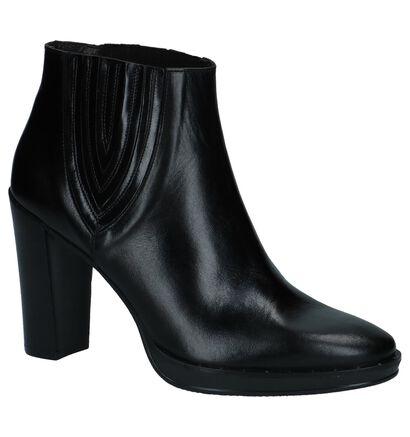 Zinda Bottillons en Noir en cuir (227024)