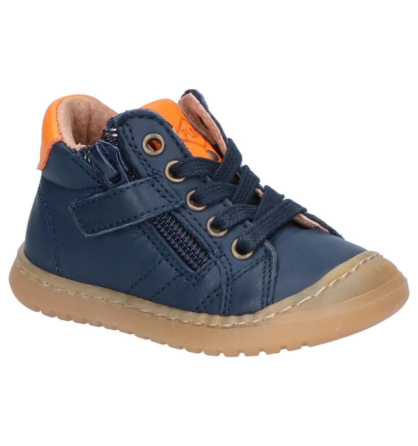 P-L-D-M By Palladium Mador Chaussures en Bleu en cuir (256246)