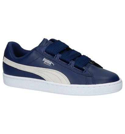 Puma Basket Heart Lage Sneakers Zwart, Blauw, pdp