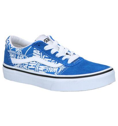 Vans Ward Blauwe Skateschoenen in daim (253314)