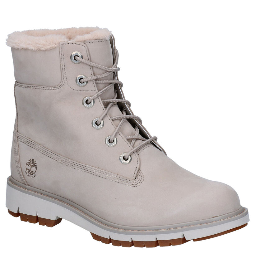 Timberland Lucia Way 6 Inch Grijze Boots in nubuck (277655)