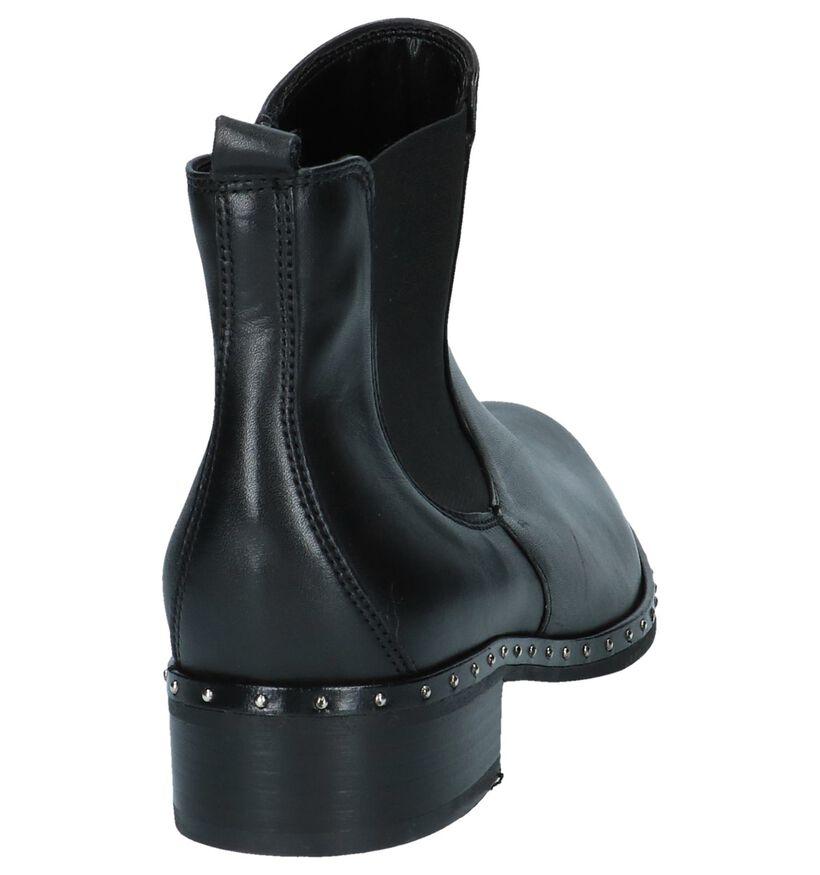 Gabor Zwarte Geklede Boots in leer (231212)