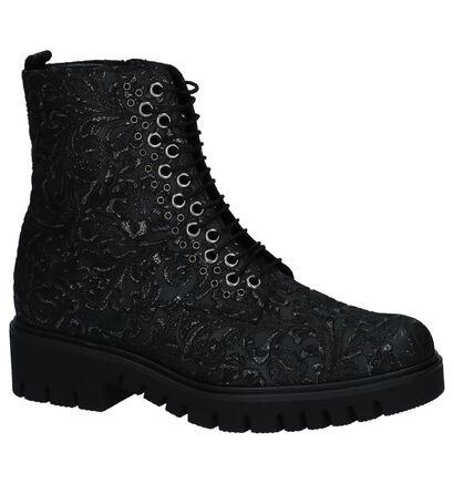 Gabor Comfort Zwarte Boots met Rits/Veter in leer (231185)
