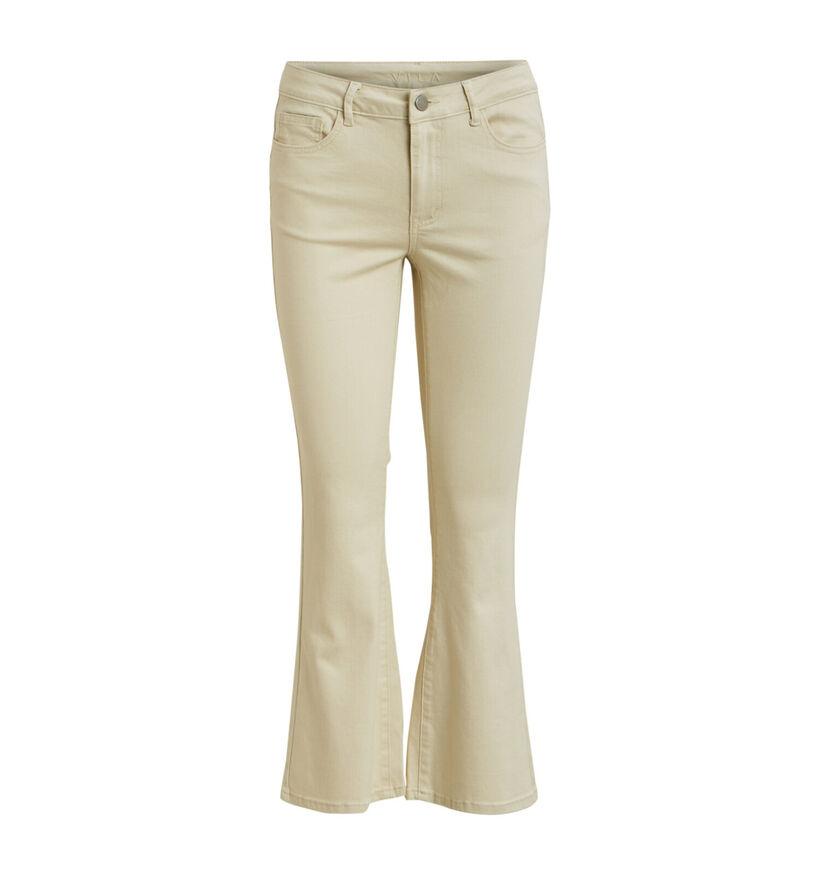 Vila Ecru Cropped Bootcut Jeans (277976)