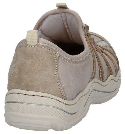 Rieker Chaussures slip-on en Beige clair en simili cuir (219727)