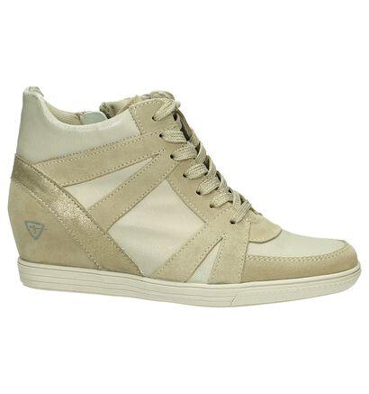 Beige Sneaker met Sleehak Tamaris, Beige, pdp