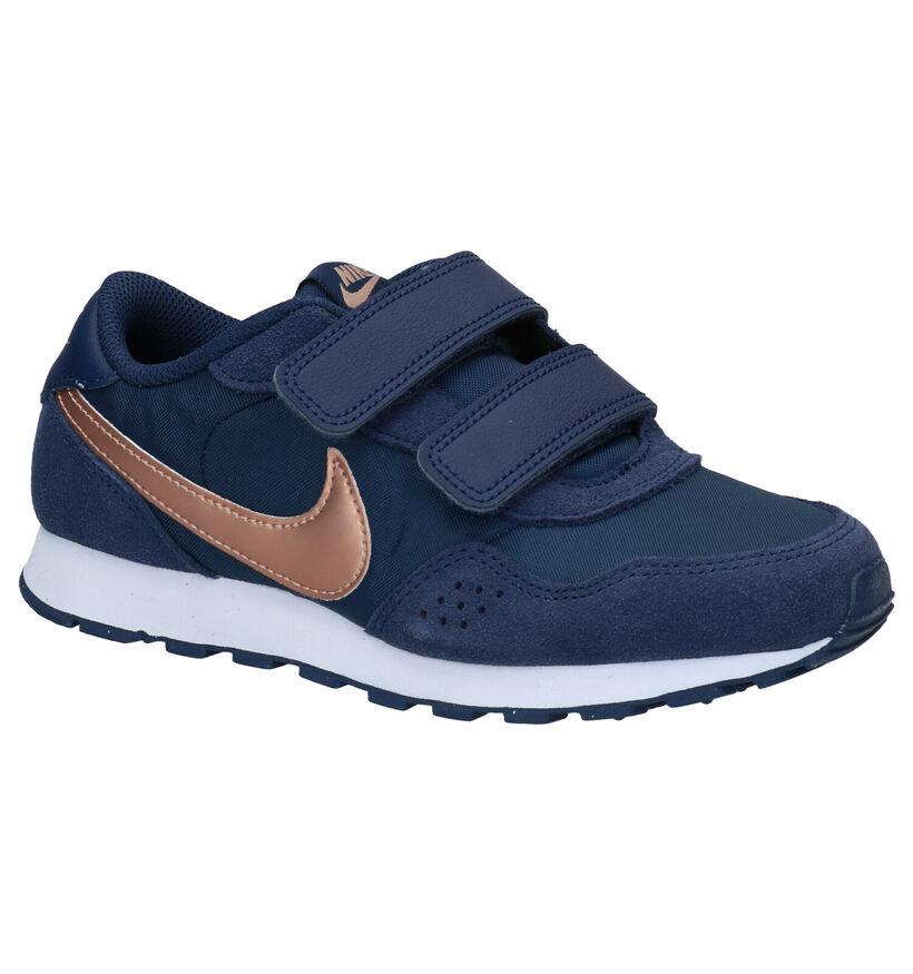 Nike MD Valiant PS Baskets en Bleu en cuir (277515)