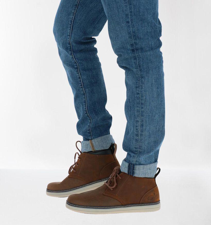Skechers Heston Regano Chaussures hautes en Brun en nubuck (277893)