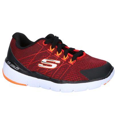 Donkerrode Sneakers Skechers Flex Advantage 3.0 in stof (250732)