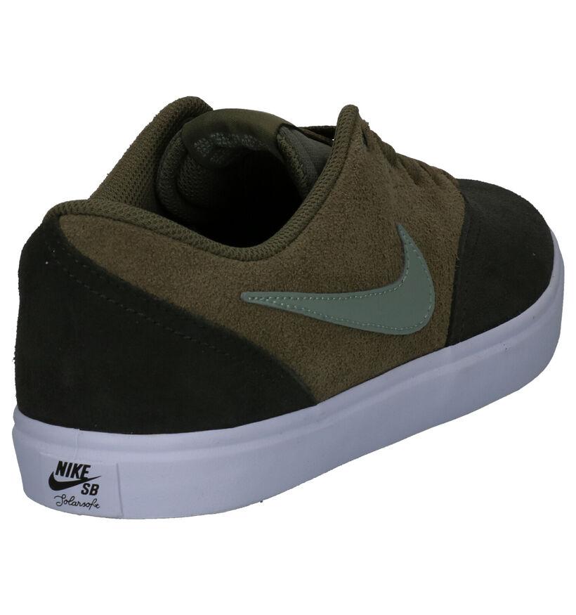 Nike SB Check Solar Kaki Sneakers in daim (262225)