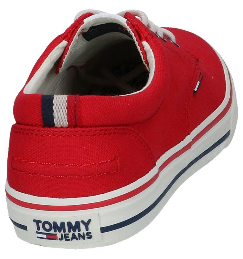 Tommy Hilfiger Witte Veterschoenen in stof (285339)