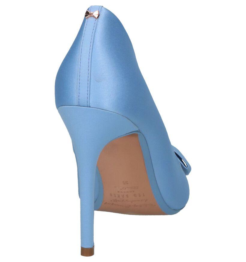 Lichtblauwe High Heel Pumps Ted Baker Skalet 2 in stof (237687)