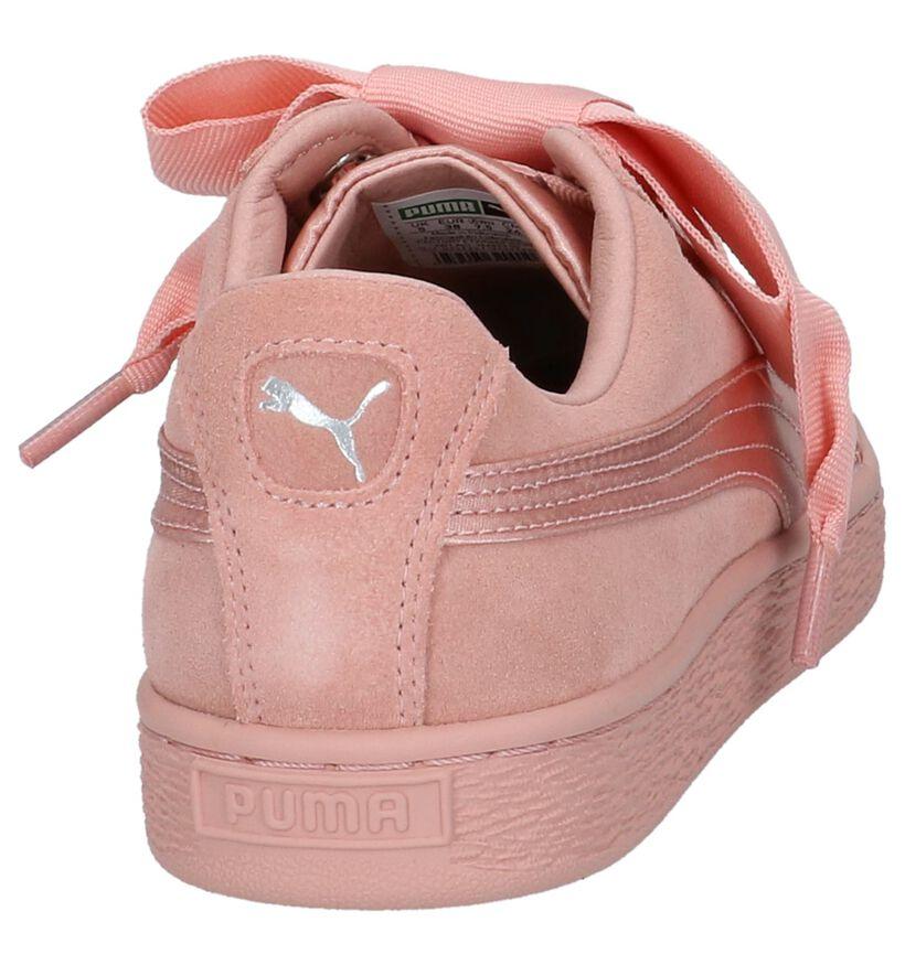 Puma Sneakers Roze in daim (209960)