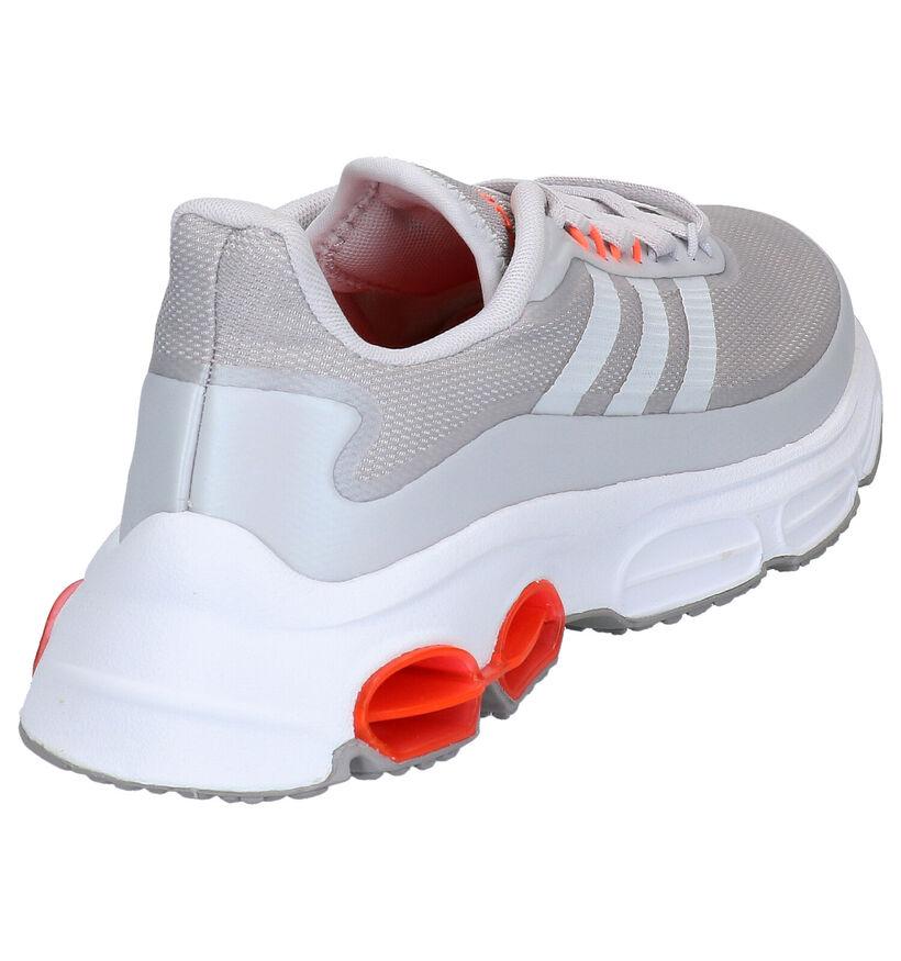 adidas Quadcube Lichtgrijze Sportschoenen in stof (264871)