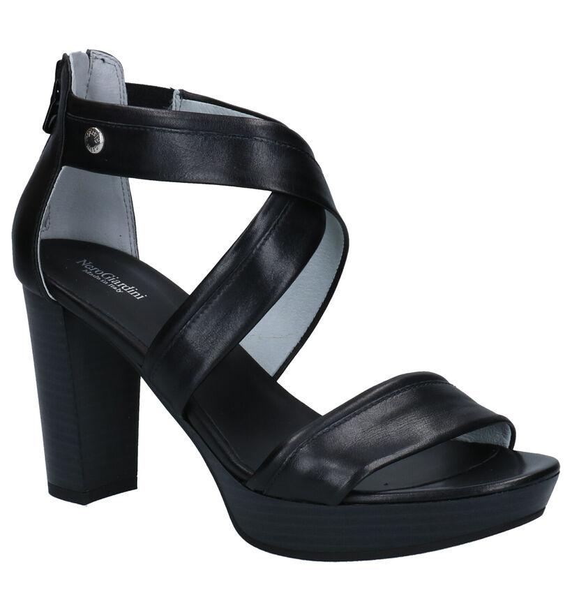 NeroGiardini Sandales à talons en Noir en cuir (274330)