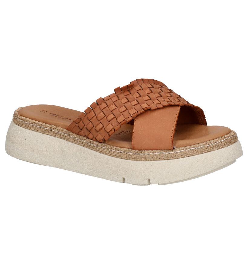 Tamaris Nu-pieds à talons en Brun clair en cuir (269752)