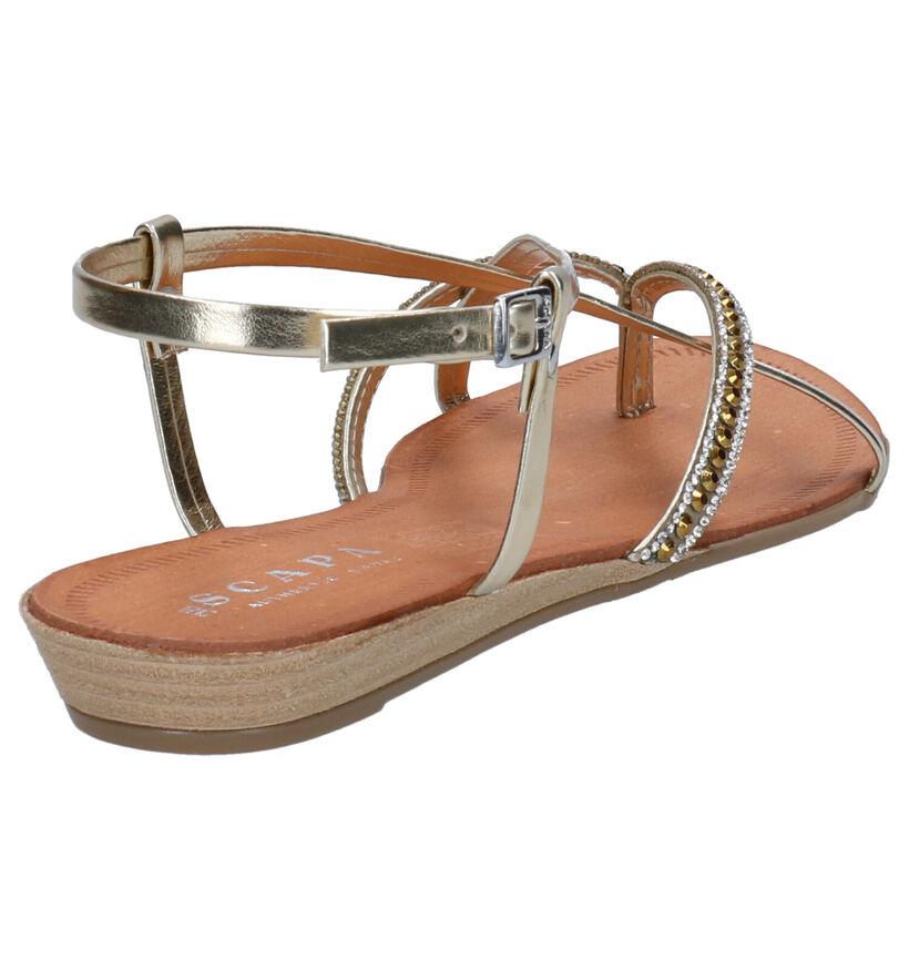 Scapa Ustica Gouden Sandalen in kunstleer (270299)