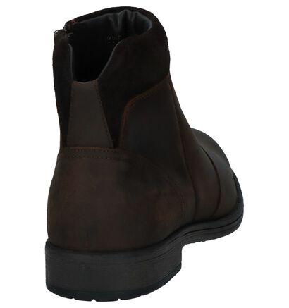 Geox Chaussures hautes en Brun foncé en cuir (223074)