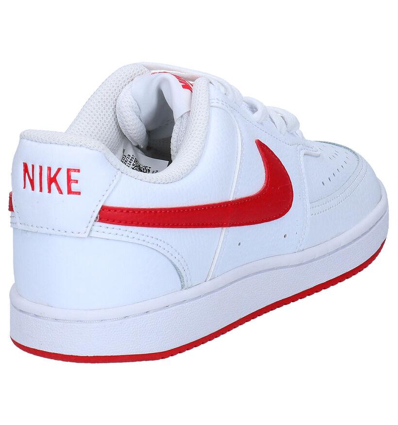 Nike Court Vision Baskets en Noir en cuir (262187)