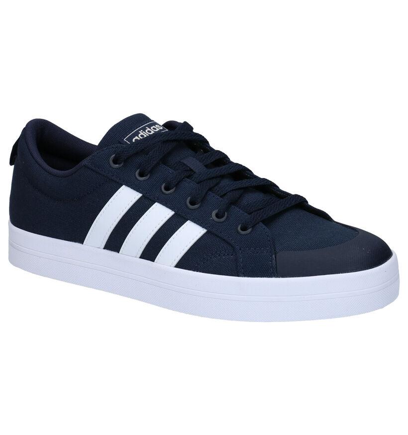 adidas Bravada Blauwe Sneakers in kunstleer (273042)