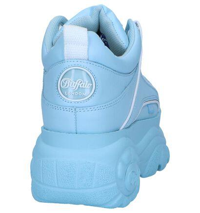 Witte Sneakers Buffalo London Classic Low, Blauw, pdp