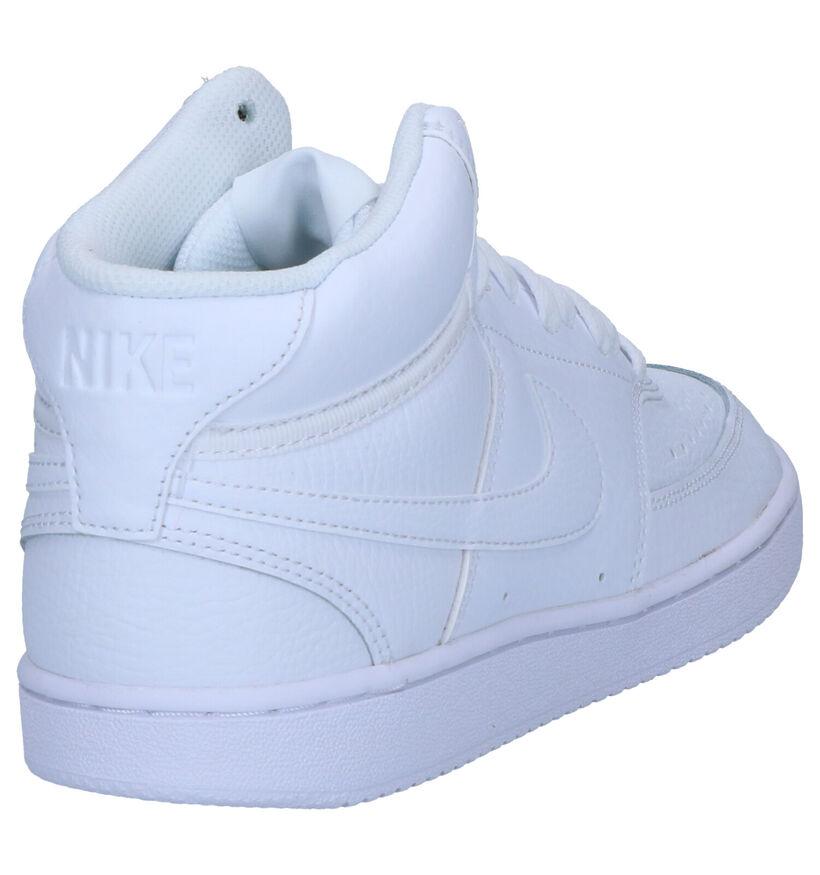 Nike Court Vision Baskets en Blanc en cuir (262189)
