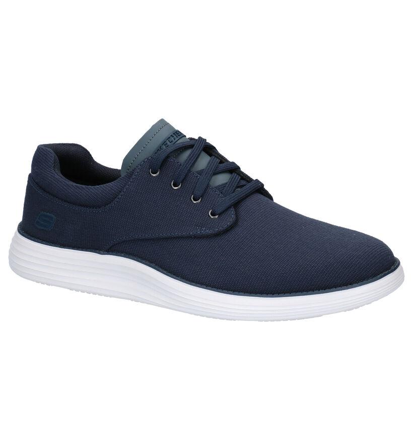 Skechers Blauwe Sneakers in stof (266942)