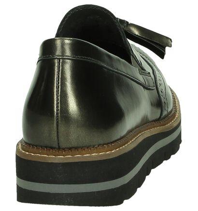 Gabor OptiFit Chaussures slip-on en Argent en cuir (184774)