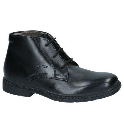 Geox Chaussures hautes en Noir en cuir (223186)