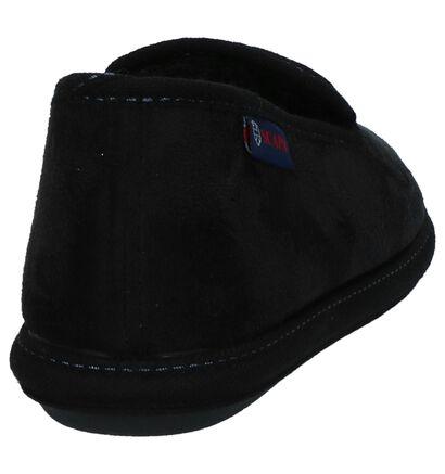Zwarte Gesloten Pantoffels Scapa in stof (227530)