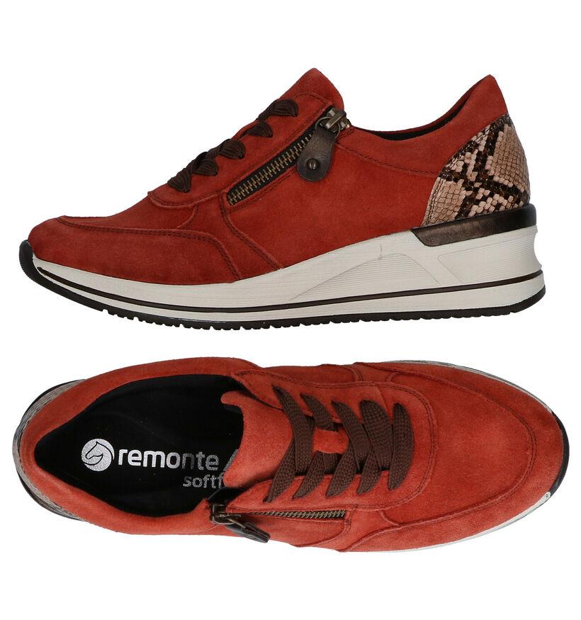 Remonte Chaussures à lacets en Orange en daim (277641)