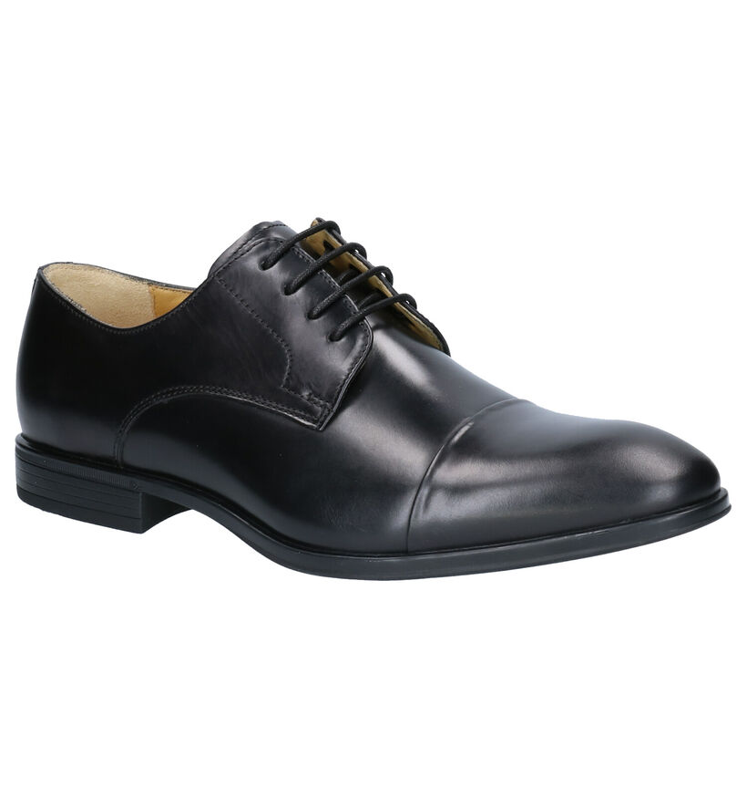 Steptronic Franco Chaussures habillées en Noir en cuir (259263)