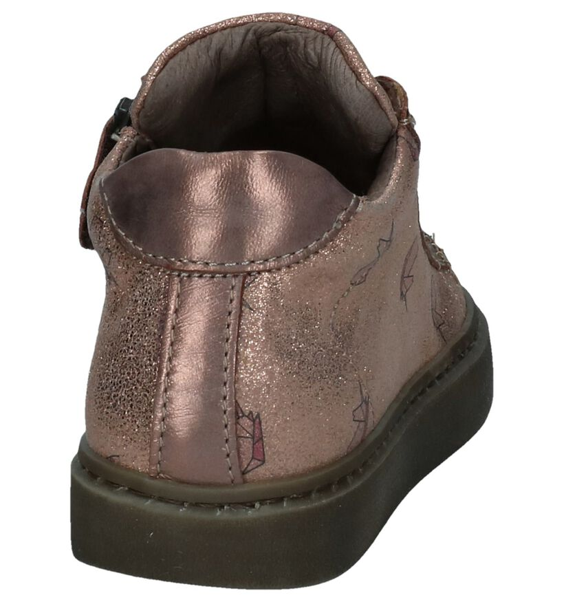 STONES and BONES Chaussures hautes en Or rose en nubuck (255504)