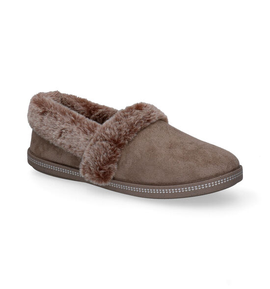 Skechers Cozy Campfire Taupe Pantoffels