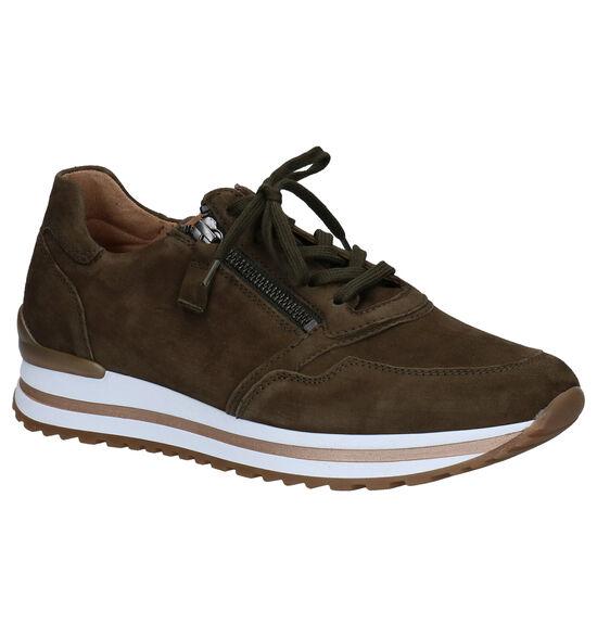 Gabor OptiFit Chaussures à Lacets en Vert kaki