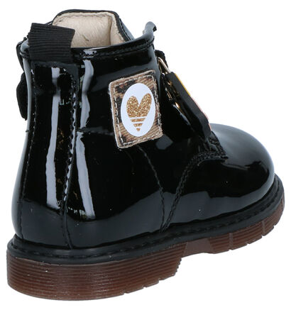 Bumba Chaussures hautes en Noir en cuir verni (261017)
