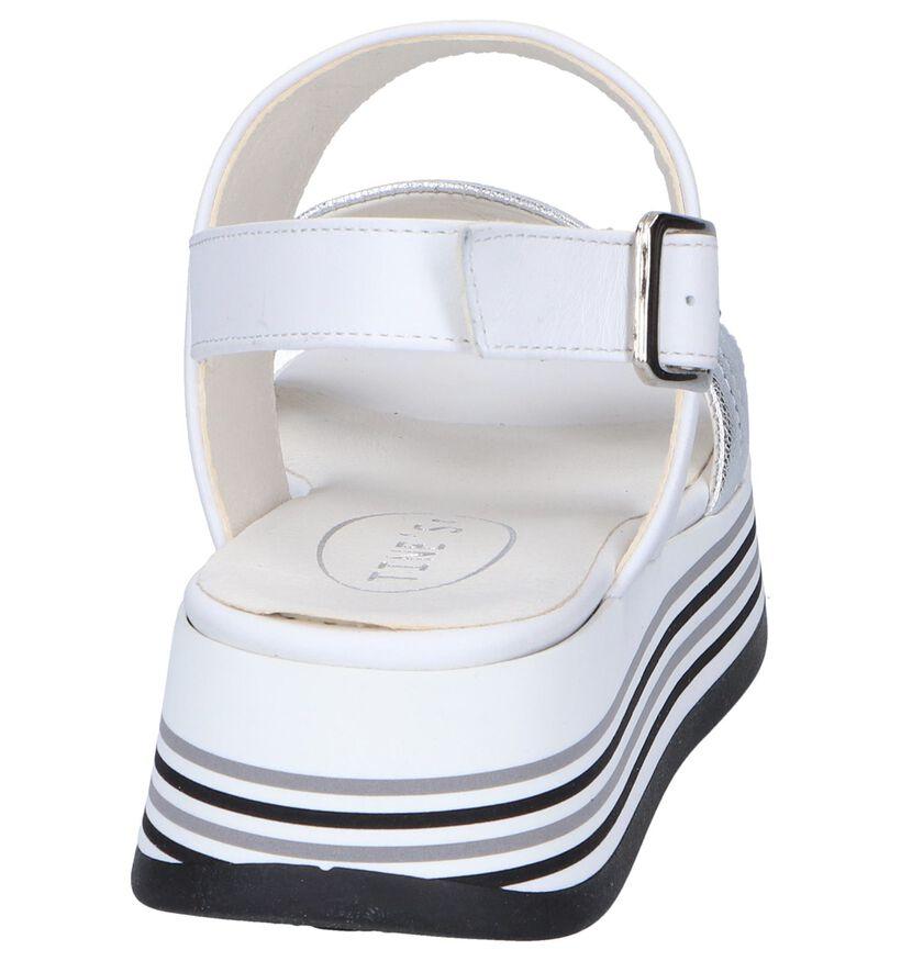 Tine's Sandales à talons en Blanc en cuir (251747)