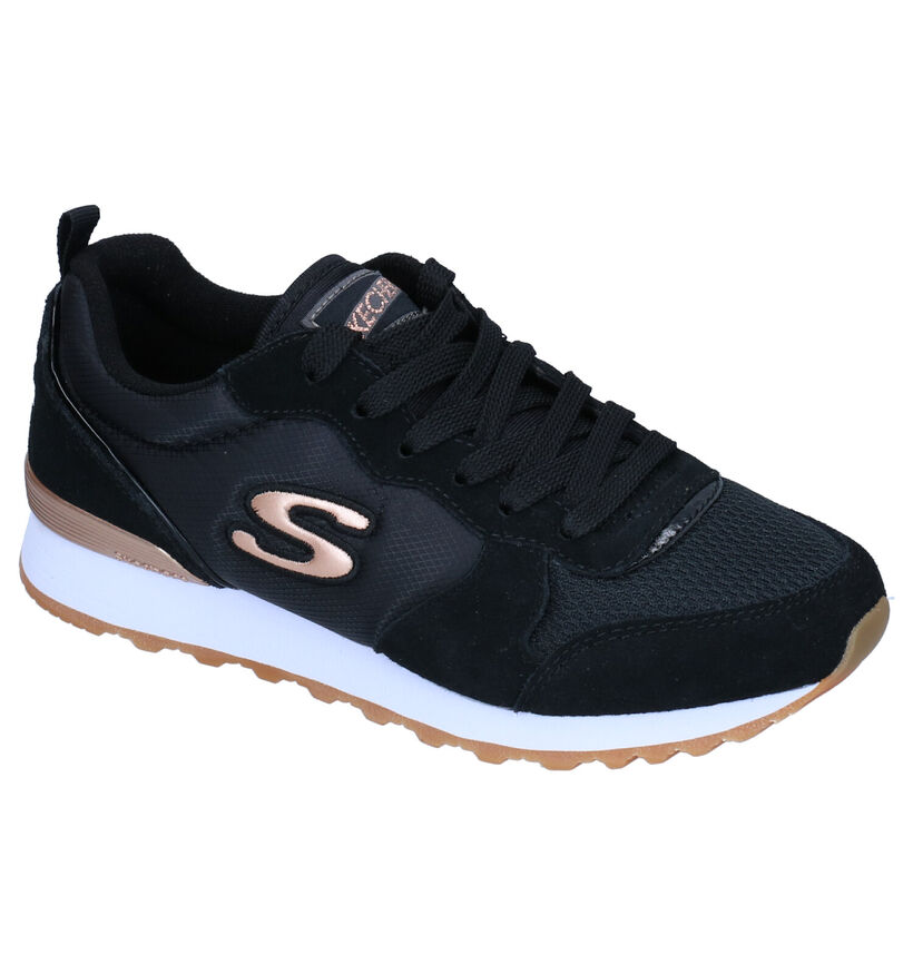 Skechers OG85 Gold'n Gurl Zwarte Sneakers in nubuck (295689)
