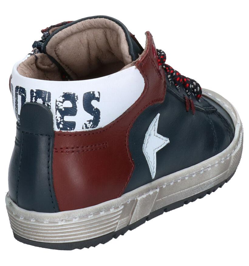 STONES and BONES Boris Chaussures hautes en Bleu en cuir (255442)