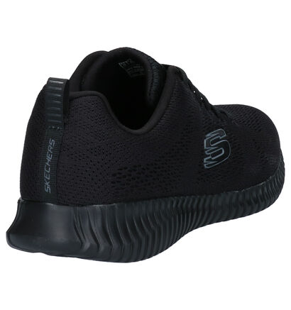 Skechers Elite Flex Baskets en Noir en textile (265017)