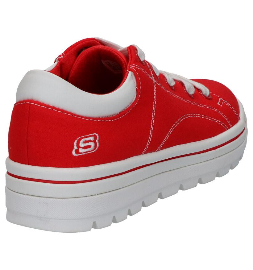 Skechers Street Cleats Baskets en Rouge en textile (266903)