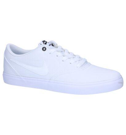 Zwarte Sneakers Nike SB Check Solar , Wit, pdp